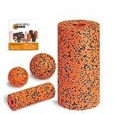 Blackroll Orange (Das Original) Starter Set mit der Faszienrolle Pro, alles für den intensiven Einstieg ins Faszientraining, inkl. Übungsbooklet