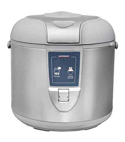 Gastroback 42507 Design Reiskocher, Abschalt-und Warmhaltefunktion, 3 Liter, antihaftbeschichtet, 450 Watt, Antihaftbeschichtung, 3 liters, Grau