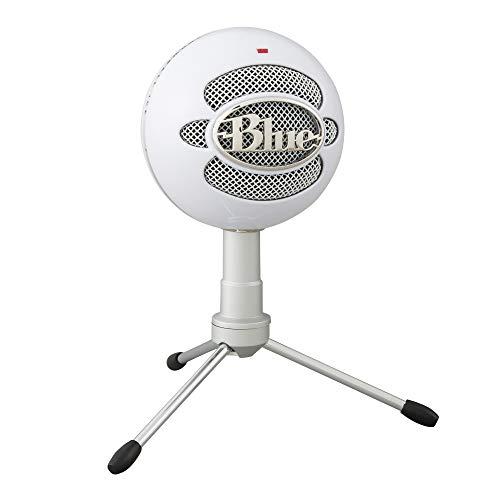 Blue Microphones Snowball iCE Plug 'n Play USB-Mikrofon für Aufnahme, Podcasting, Broadcasting, Twitch Game-Streaming, Voiceover, YouTube Videos auf PC und Mac - Weiß