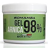 BidMamba Arnika-Gel 98% 500ml | Arnika Salbe Hochkonzentriert, Muskel- und Gelenkschmerzen Salbe Mit Lavendel, Aloe, Arganöl Und Wintergrün, Olivenöl Und Minze | Made In Italy