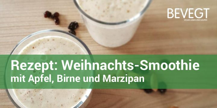 weihnachten im glas apfel birne marzipan smoothie. Black Bedroom Furniture Sets. Home Design Ideas