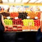Obstauswahl auf einem Markt