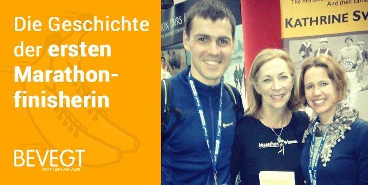 Marathon Woman: die erste Frau im Ziel