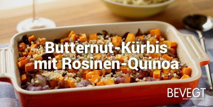 butternut k rbis mit rosinen quinoa und chili mandeln vegan. Black Bedroom Furniture Sets. Home Design Ideas