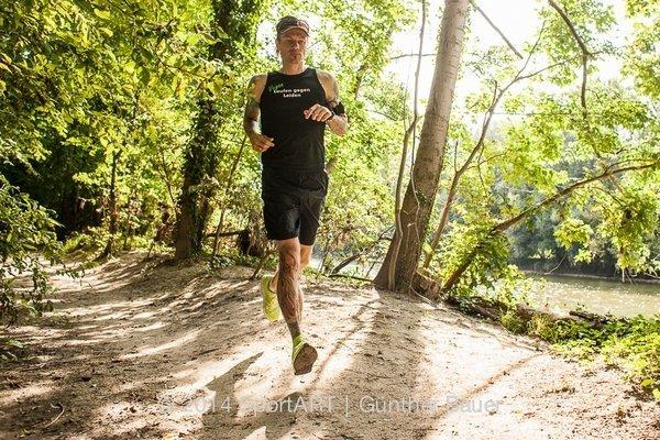 Der vegane Läufer Mark Hofmann (Foto aus der Vegan eXtreme Ausstellung)