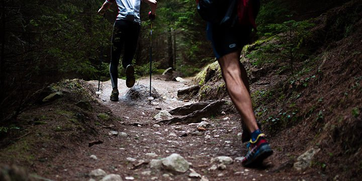 Zwei Läufer bei einem Trailrun