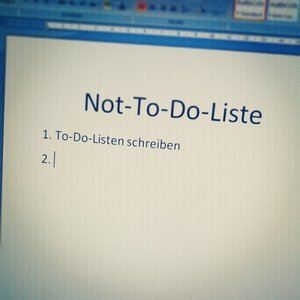 Not-To-Do-Liste