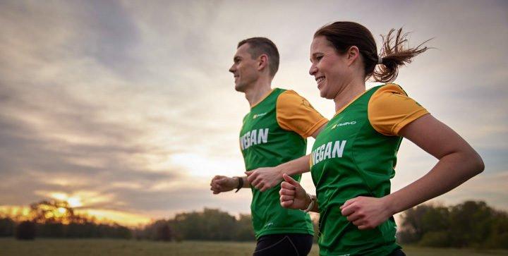 Katrin und Daniel beim Laufen