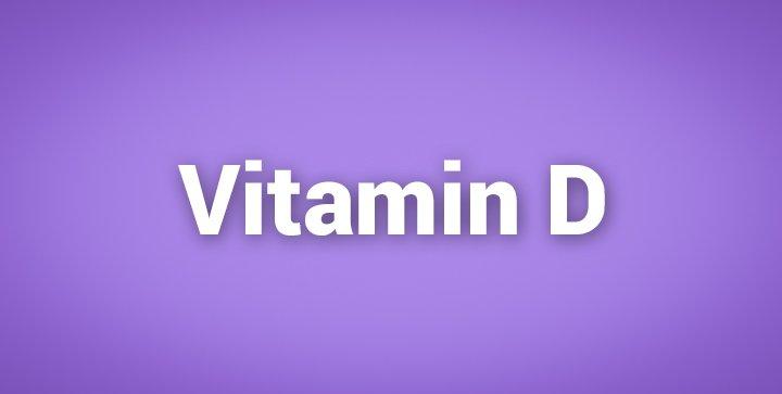 """Das Wort """"Vitamin D"""" auf einem lila Hintergrund"""
