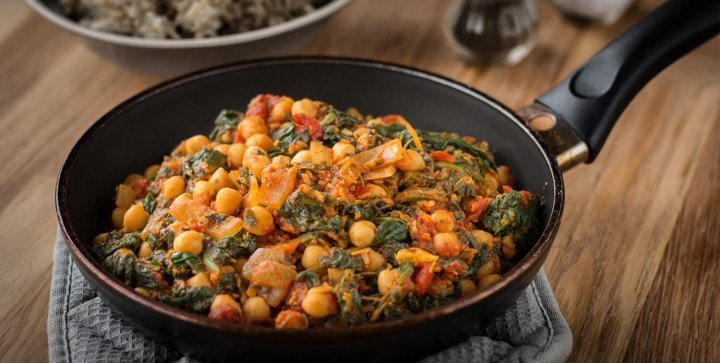 "Deviled Chickpeas aus ""The Lotus and the Artichoke Sri Lanka"""