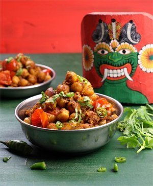 "Deviled Chickpeas aus ""The Lotus and the Artichoke Sri Lanka"" von Justin P. Moore"