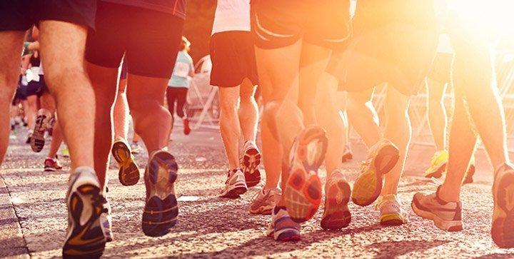 Läuferbeine bei einem Wettkampf