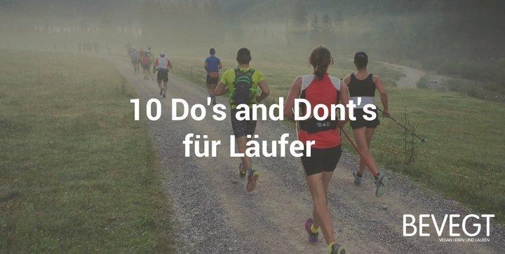 10 Do's and Dont's für Läufer – vom Läufergruß bis zur Körperhygiene