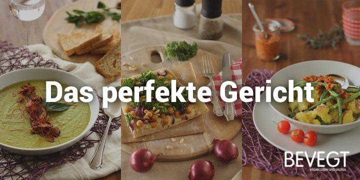 """Titelbild: drei Gerichte aus unserem veganen Kochbuch """"A Grain, a Green and a Bean"""""""
