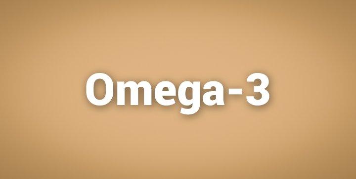 """Das Wort """"Omega-3"""" auf braunem Hintergrund"""