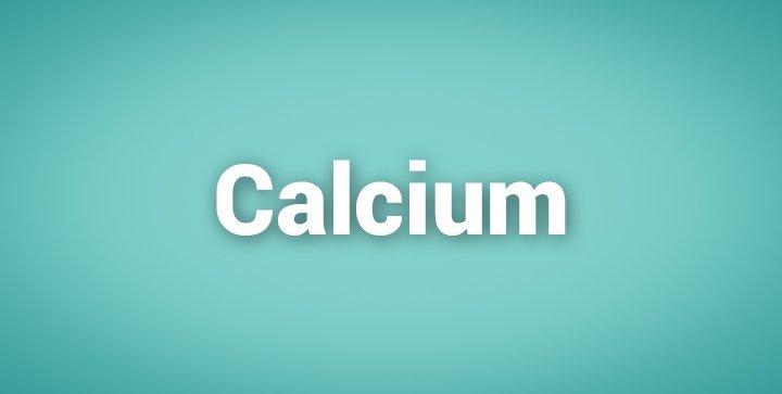 """Das Wort """"Calcium"""""""