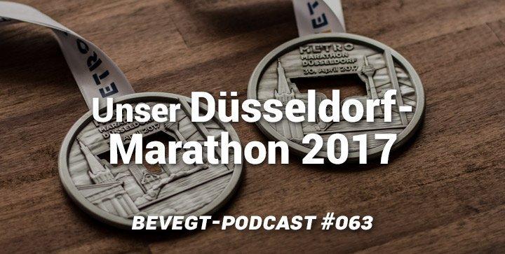 Titelbild: Unsere Finisher-Medaillen vom Düsseldorf Marathon 2017