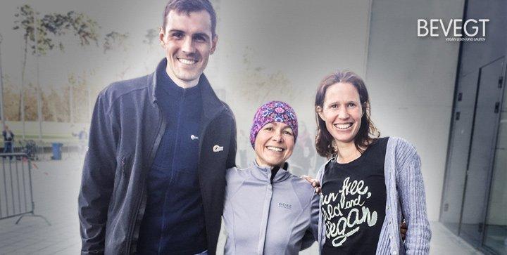 Titelbild: Daniela und wir nach dem Frankfurter Halbmarathon 2017
