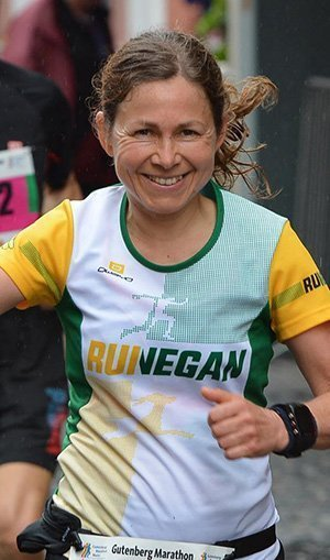 Daniela beim Gutenberg Marathon Mainz 2017