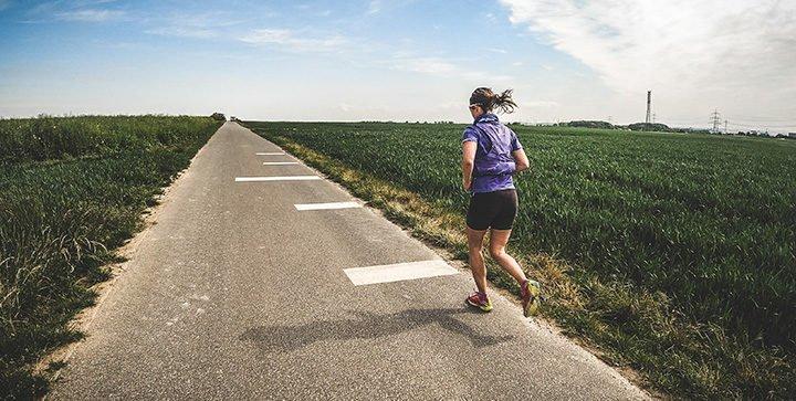 Katrin beim Laufen