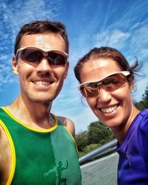 Fast geschafft: Katrin und Daniel kurz vor dem Ziel