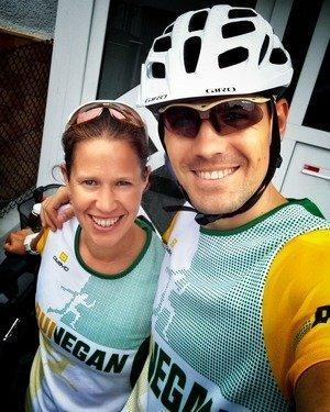 Katrin und Daniel vor dem Start