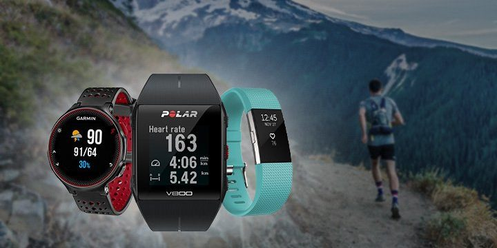Titelbild: Laufuhren von Garmin, Polar und Fitbit