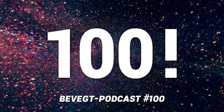 """Titelbild: Die Zahl """"100"""" vor einem Feuerwerk-Hintergrund"""