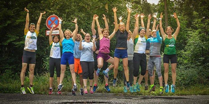 Teilnehmer des veganen Laufwochenendes in Hanau