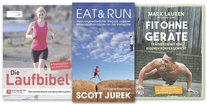 verschiedene Lauf- und Fitnessbücher