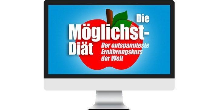 Ein Bildschirm mit dem Logo des Ernährungskurses