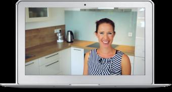 Ein Laptop-Bildschirm mit einem Standbild aus einer Lektion der beVegt-Kochschule