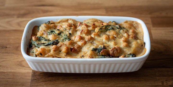 Vegane Grünkohl-Kichererbsen-Lasagne