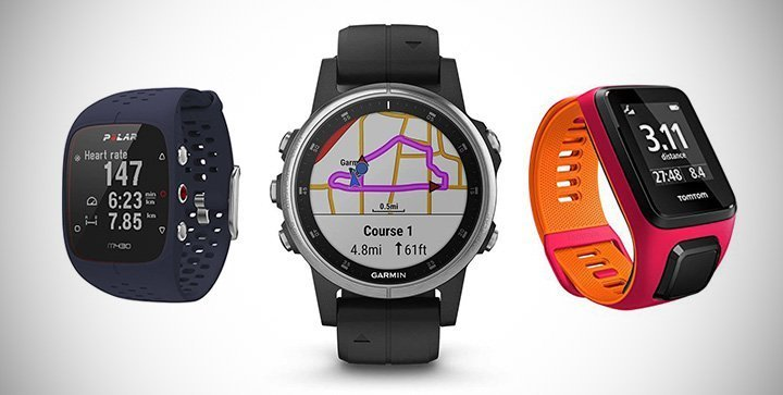 Titelbild: Drei Laufuhren von Polar, Garmin und TomTom