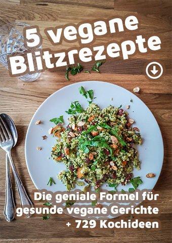 Cover: 5 vegane Blitzrezepte nach der Grain-Green-Bean-Formel