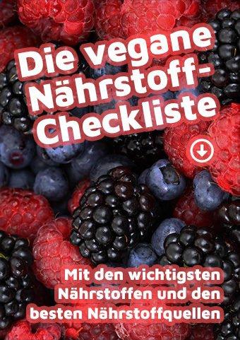 Cover: Die vegane Nährstoff-Checkliste