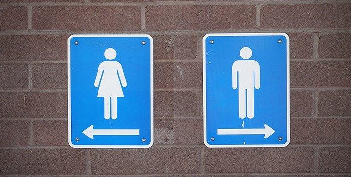 Titelbild: Zwei Piktogramme, die auf eine Damen- und Herrentoilette hinweisen
