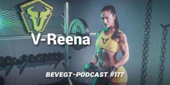Die vegane Kraftsportlerin V-Reena beim Training