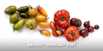Verschiedene, bunte Tomaten auf einem weißen Untergrund