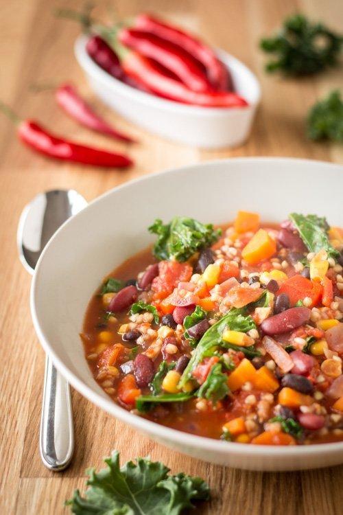 """Chili con Buchweizen aus """"A Grain, a Green and a Bean 1"""""""