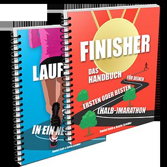 Die Buchcover von LAUFSTART und FINISHER