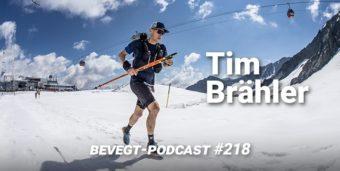 Tim Brähler bei einem Ultramarathon in den Bergen