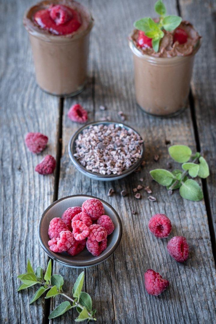 Veganes Schoko-Protein-Mousse