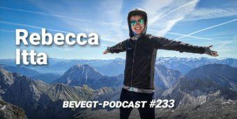Titelbild: Die vegane Läuferin und Triathletin Rebecca Itta vor einem Bergpanorama
