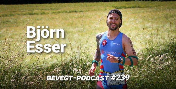 Der vegane Triathlet und Läufer Björn Esser bei einem Wettkampf