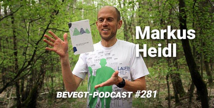 """Markus Heidl mit seinem Buch """"Bitte laufen Sie rechts ran"""""""